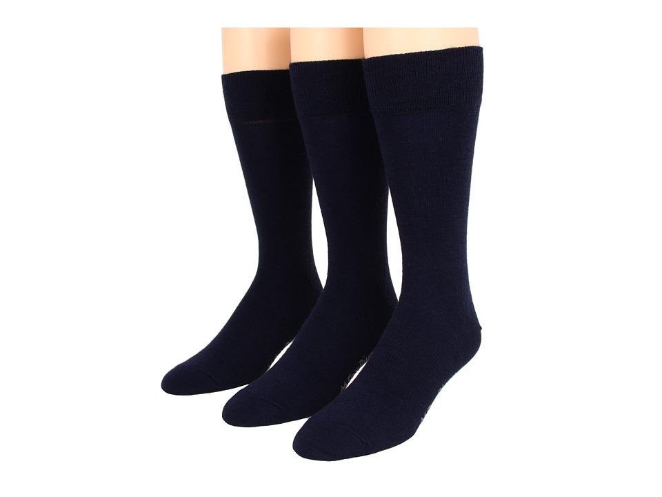Fox River - Jersey Dress 3-Pair Pack (Navy) Men's Crew Cut Socks Shoes
