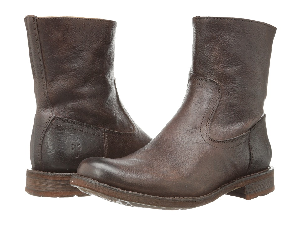 Frye - Bennett Inside Zip (Dark Brown) Men's Boots