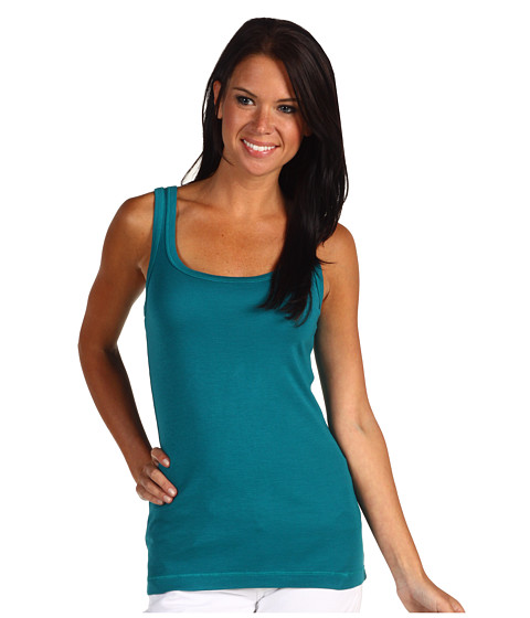 Splendid - 1x1 Tank Top (Peacock) Women
