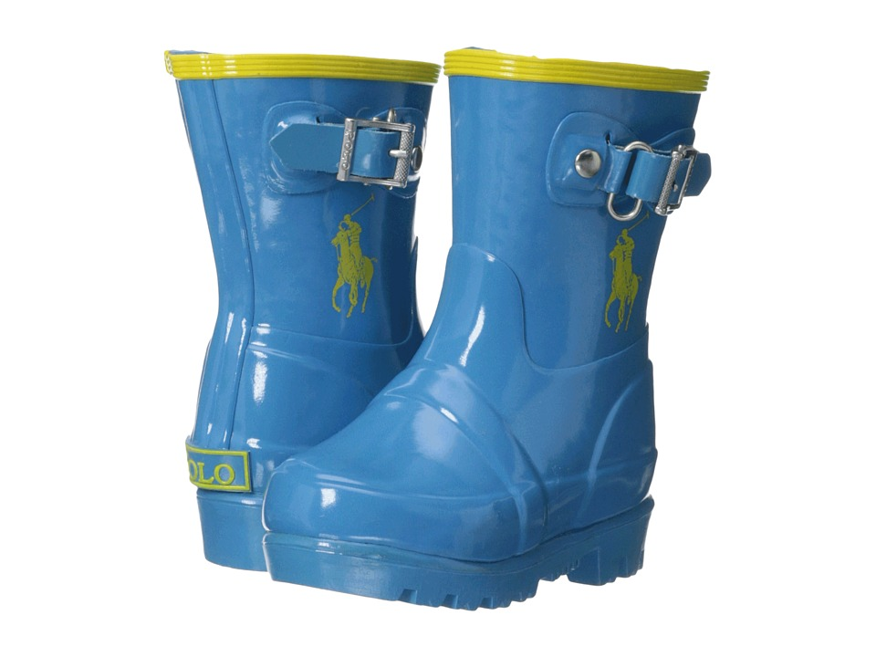 Polo Ralph Lauren Kids - Ralph Rainboot (Toddler) (Royal/Yellow Rubber) Kid's Shoes
