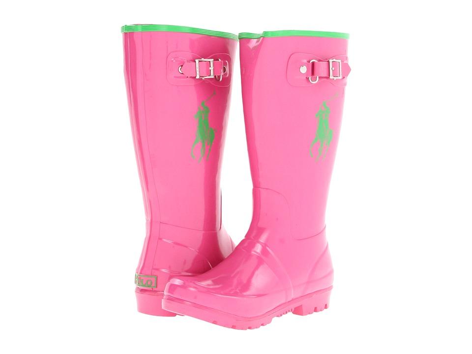 Polo Ralph Lauren Kids - Ralph Rainboot (Little Kid) (Pink/Green Rubber) Girl's Shoes