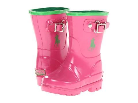 Polo Ralph Lauren Kids - Ralph Rainboot (Toddler) (Pink/Green Rubber) Girl