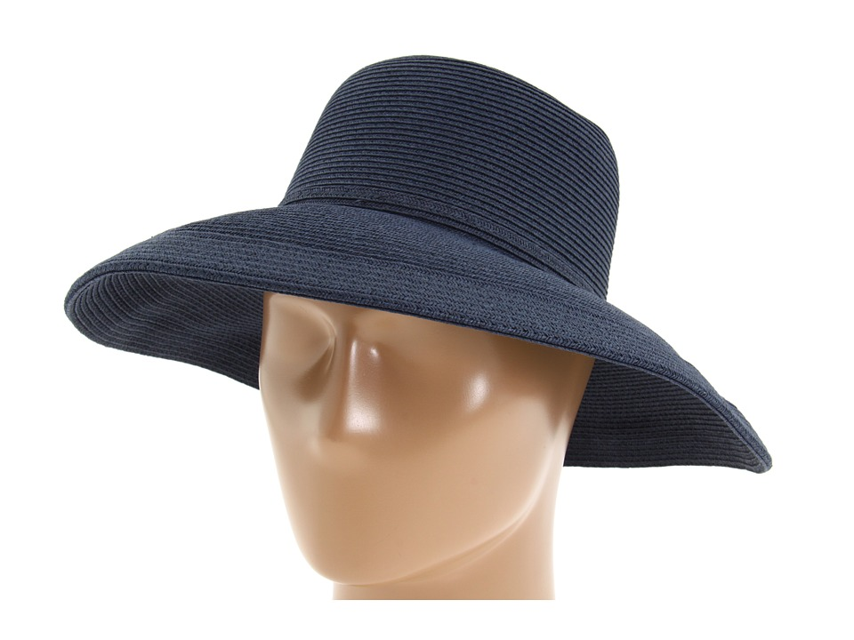 San Diego Hat Company - Paperbraid Hat Large Brim (Navy) Traditional Hats