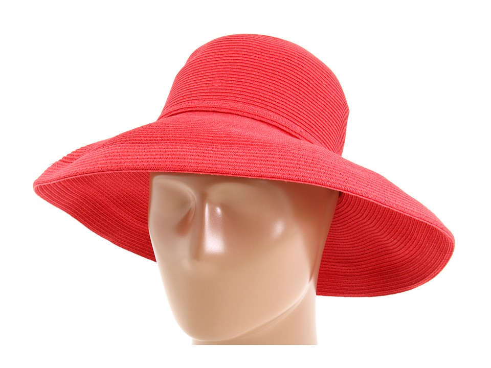 San Diego Hat Company - Paperbraid Hat Large Brim (Red) Traditional Hats