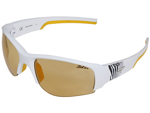 Julbo Eyewear - Dust with Zebra Lens (White/Yellow) Athletic Performance Sport Sunglasses