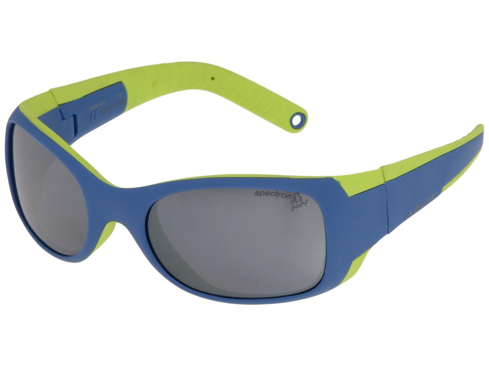 Julbo Eyewear - Booba (4-6 Years Old) (Blue/Lime With Spectron 4 Baby Lens) Athletic Performance Sport Sunglasses