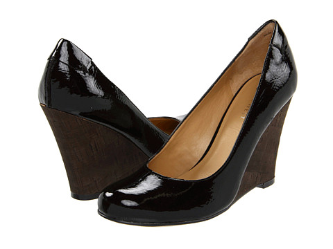 Nine West - Smooch (Black Patent PU) Women's Wedge Shoes