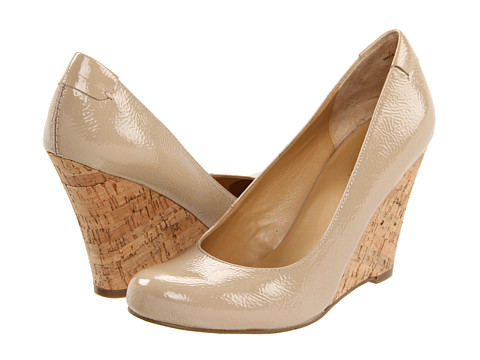 Nine West - Smooch (Taupe Patent PU) Women's Wedge Shoes