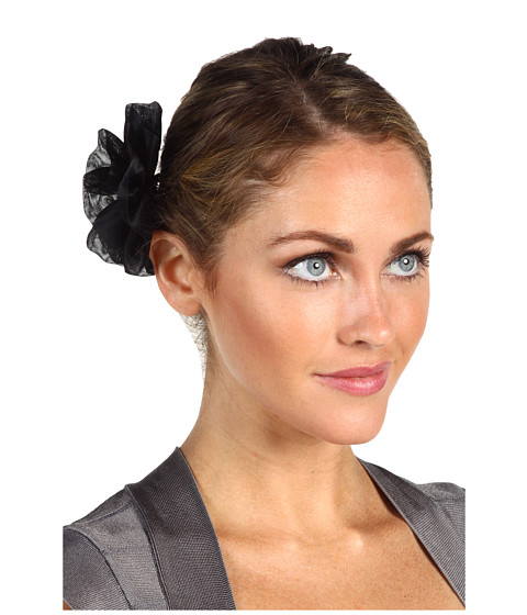 Jane Tran - Black Silk Flower Clip (Black) Hair Accessories
