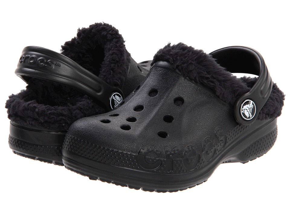 Crocs Kids - Baya Lined Kids (Toddler/Little Kid) (Black/Black) Kids Shoes