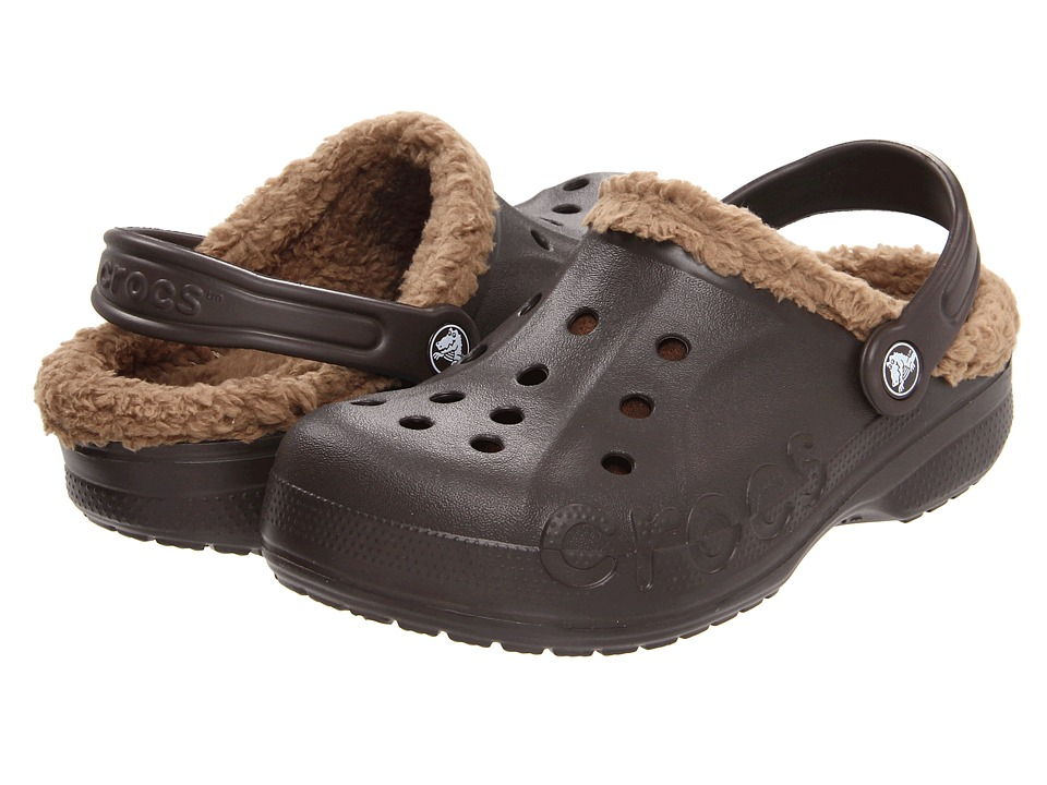 Crocs Kids - Baya Lined Kids (Toddler/Little Kid) (Espresso/Khaki) Kids Shoes
