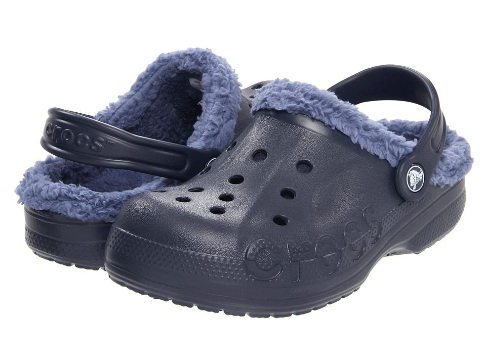 Crocs Kids - Baya Lined Kids (Toddler/Little Kid) (Navy/Bijou Blue) Kids Shoes