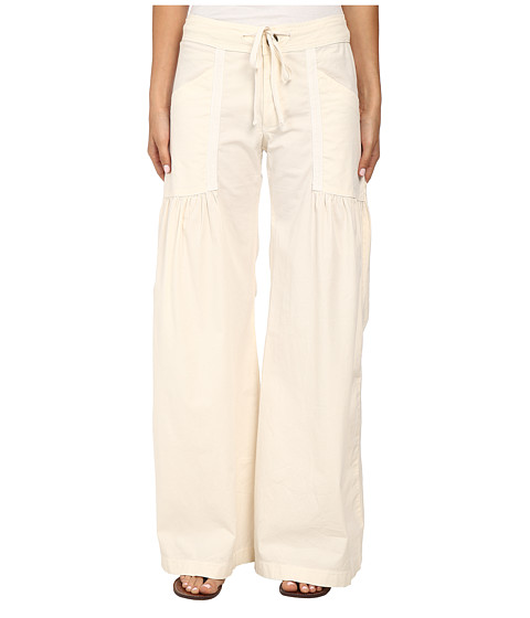 XCVI - Willowy Wide Leg Stretch Poplin Pant (Chalk) Women's Casual Pants