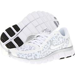 Nike Free 5.0 V4 (White/Wolf Grey/Metallic Silver) Women's Shoes