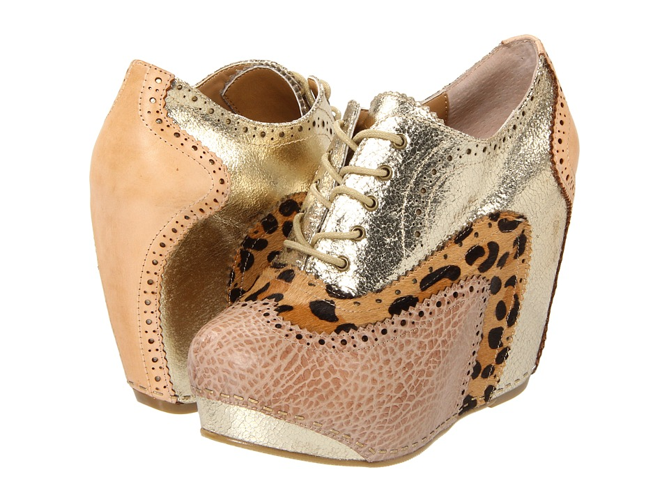 Chinese Laundry - Kick Start (Gold Multi) Women's Wedge Shoes