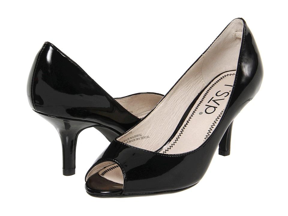 rsvp - Maren Peeptoe (Black Patent) High Heels