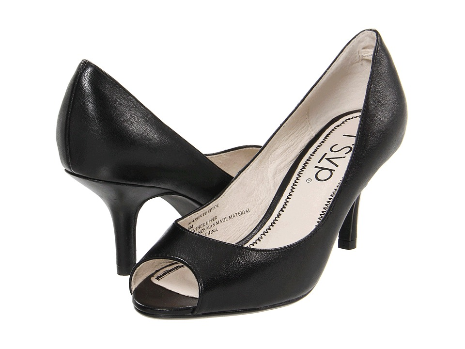rsvp - Maren Peeptoe (Black Nappa Leather) High Heels