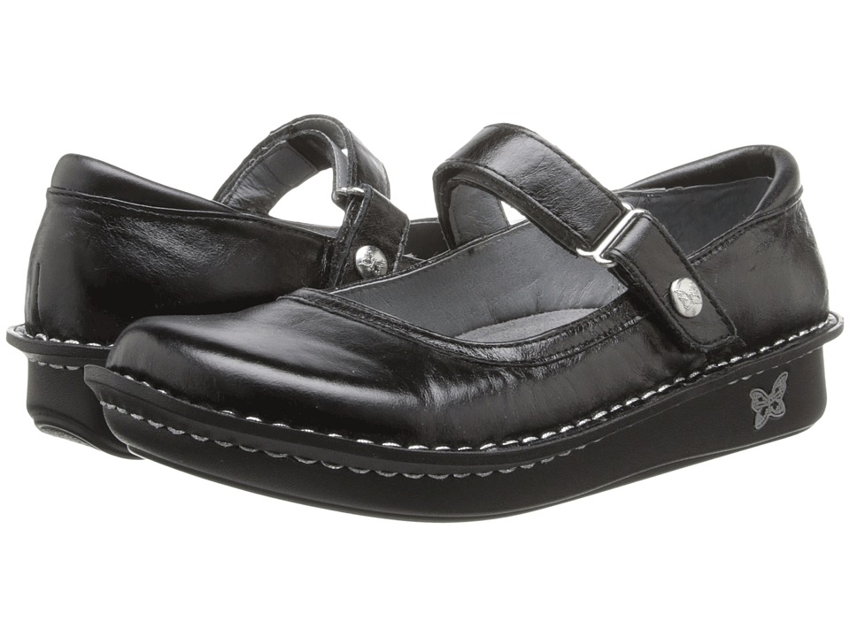 Alegria - Belle (Black Crinkle) Women's Maryjane Shoes