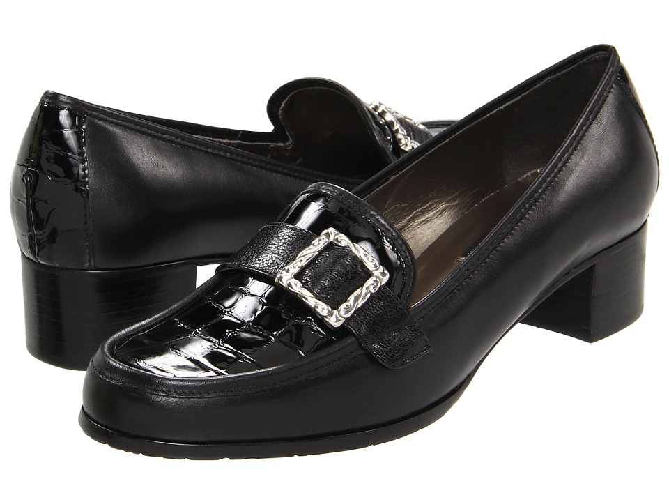 Brighton - Adele (Black) Women's Slip on Shoes