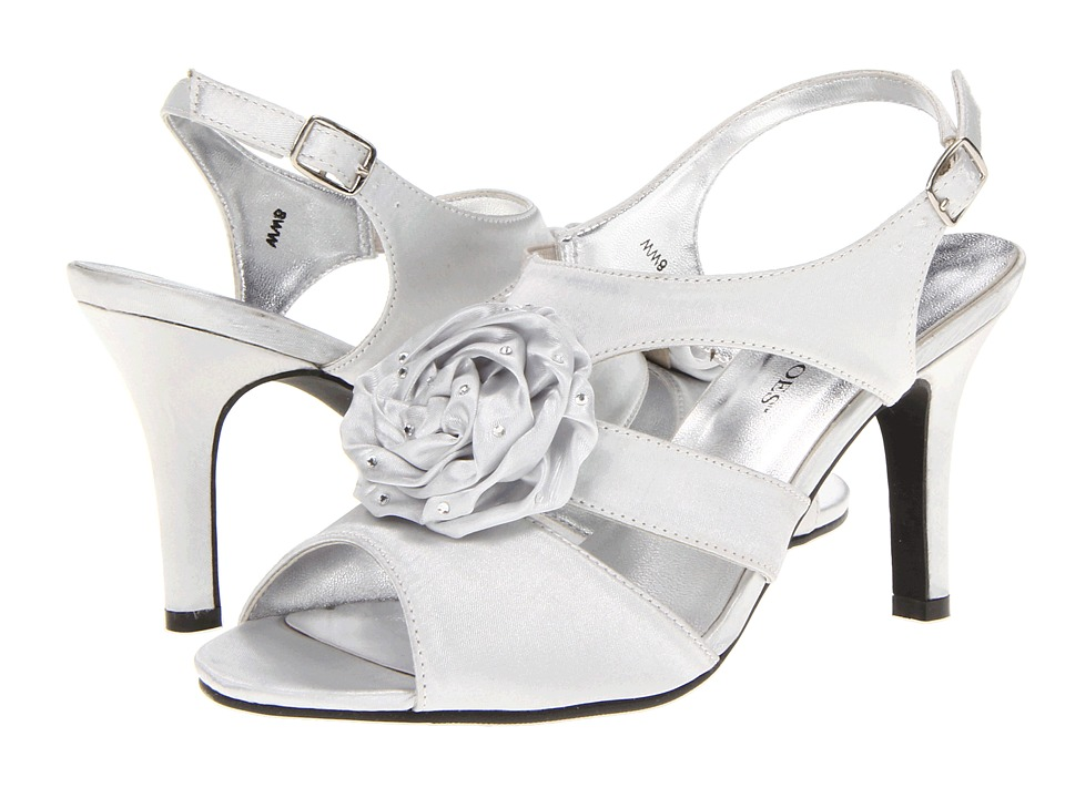 Annie - Charisma (Silver Satin) Women's Sandals