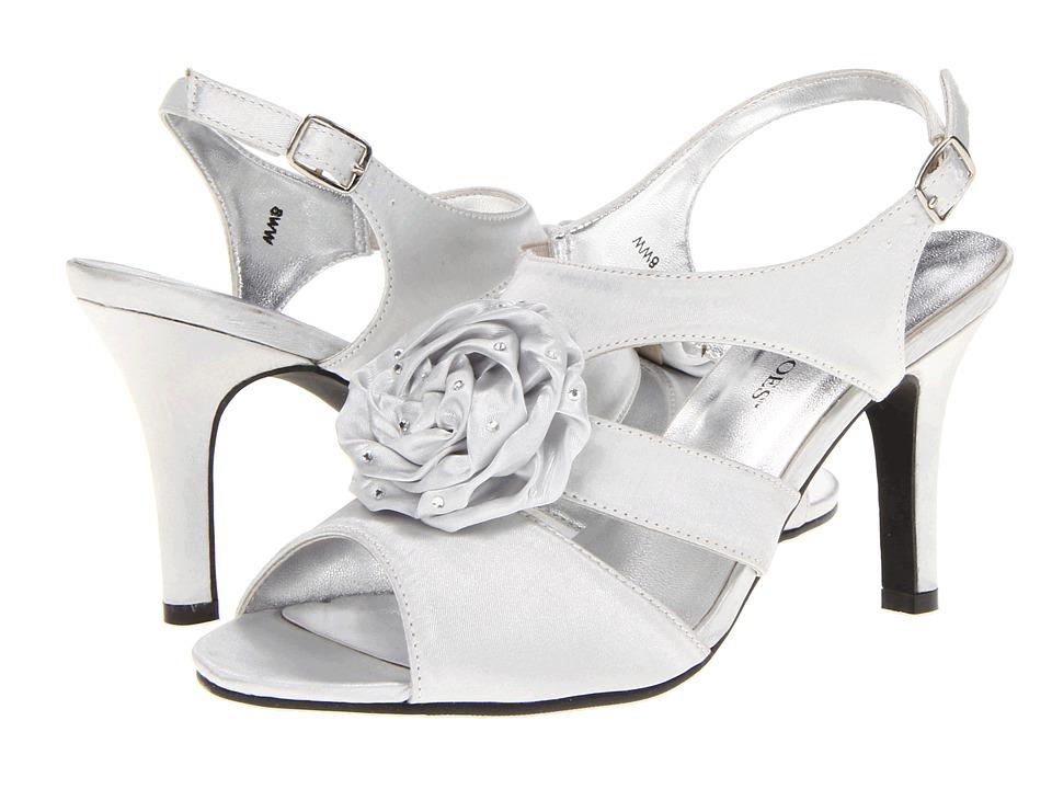 Annie - Charisma (Silver Satin) Women's Sandals