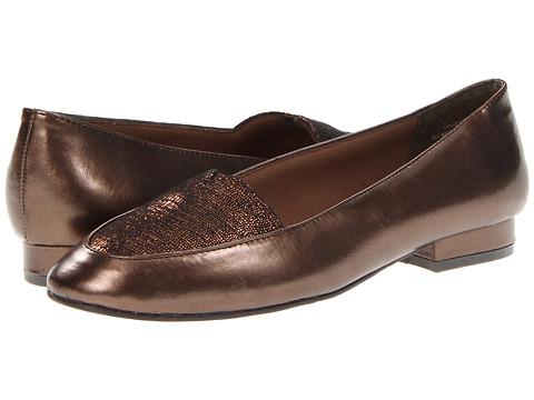 Annie Kana (Bronze/Bronze Lizard) Women's Slip on  Shoes