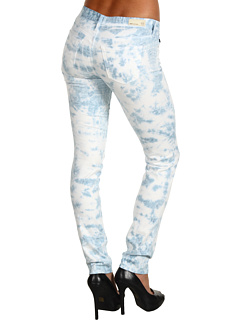 SALE! $49.99 - Save $128 on AG Adriano Goldschmied Stilt Cigarette Leg Stretch Sateen (Tie Dye Ice Blue) Apparel - 71.92% OFF $178.00