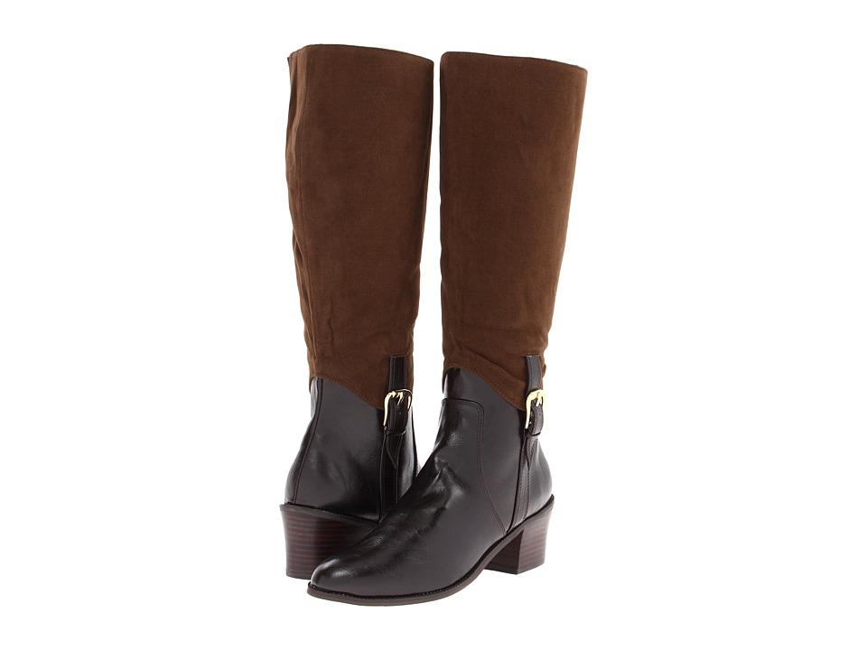Image of Annie - Amrit (Brown Antique/Brown Velvet Suede) Women's Zip Boots