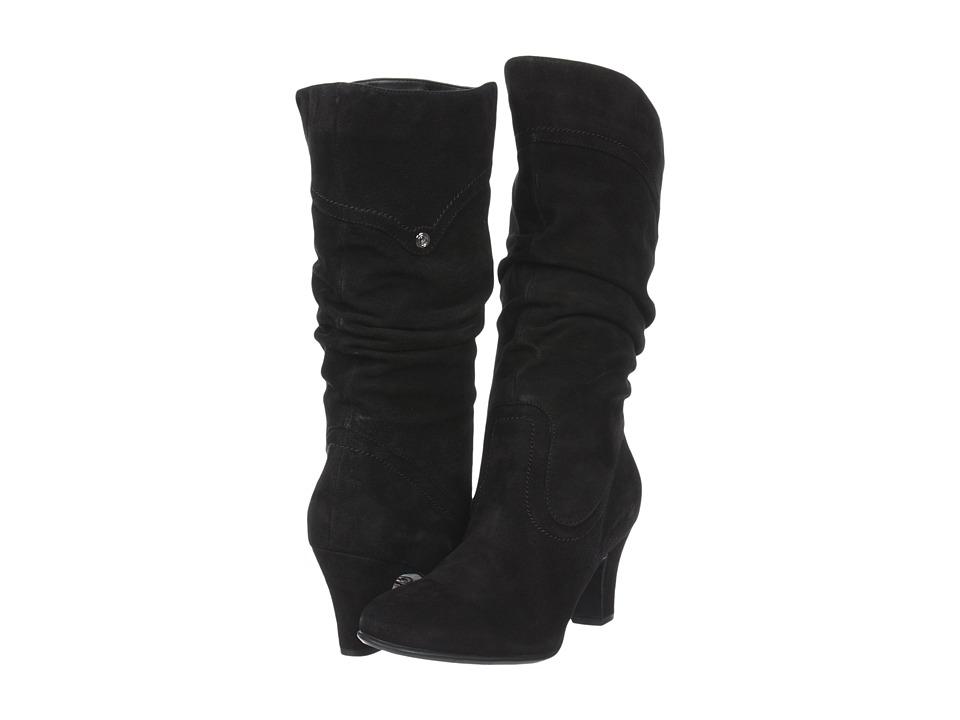Blondo - Valeska (Black Dress Suede) Women's Zip Boots