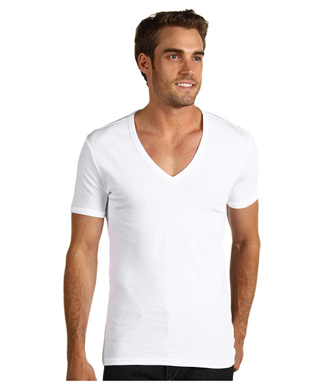J.C. Rags - Basic V-Neck Tee 2-Pack (White) Men