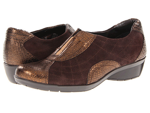 Bella-Vita - Sigma (Brown Suede/Print) Women's Slip on Shoes