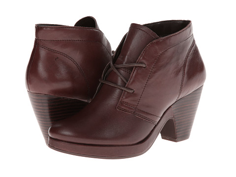 Bella-Vita - Keira (Dark Brown Burnished Leather) Women's Lace-up Boots