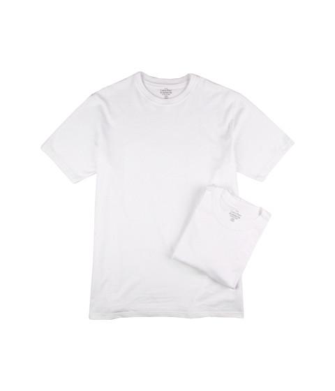 Calvin Klein Underwear - Big Tall Basic Crew 2-Pack (White) Men