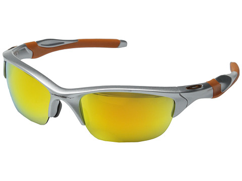 Oakley - Half Jacket 2.0 (Silver w/Fire Iridium) Sport Sunglasses