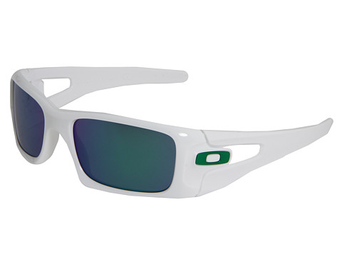 Oakley - Crankcase (Polished White w/Jade Iridium) Sport Sunglasses