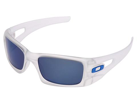 Oakley - Crankcase Polarized (Matte Clear w/Ice Iridium Polarized) Sport Sunglasses