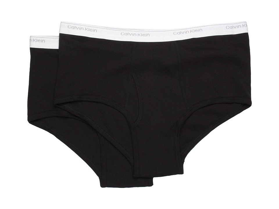 Calvin Klein Underwear - Big Tall Big Brief 2-Pack U3280 (Black) Men's Underwear