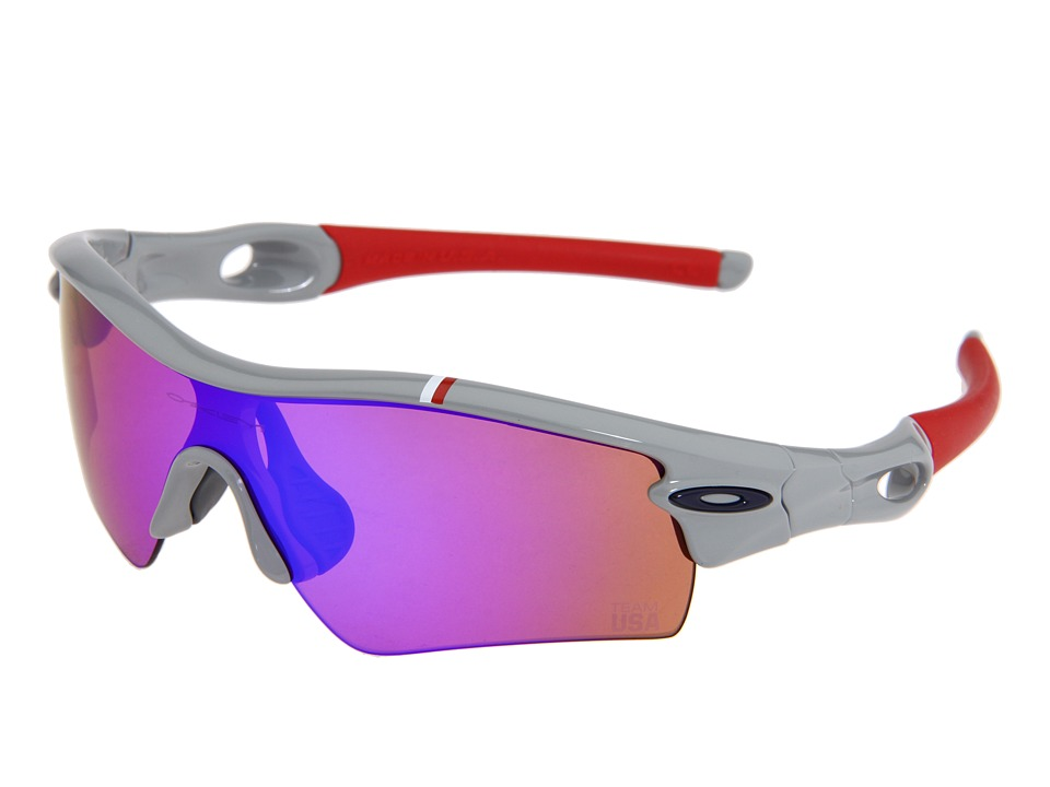 Oakley - Radar Path (Team USA) (Team USA Grey w/Blue Iridium) Sport Sunglasses