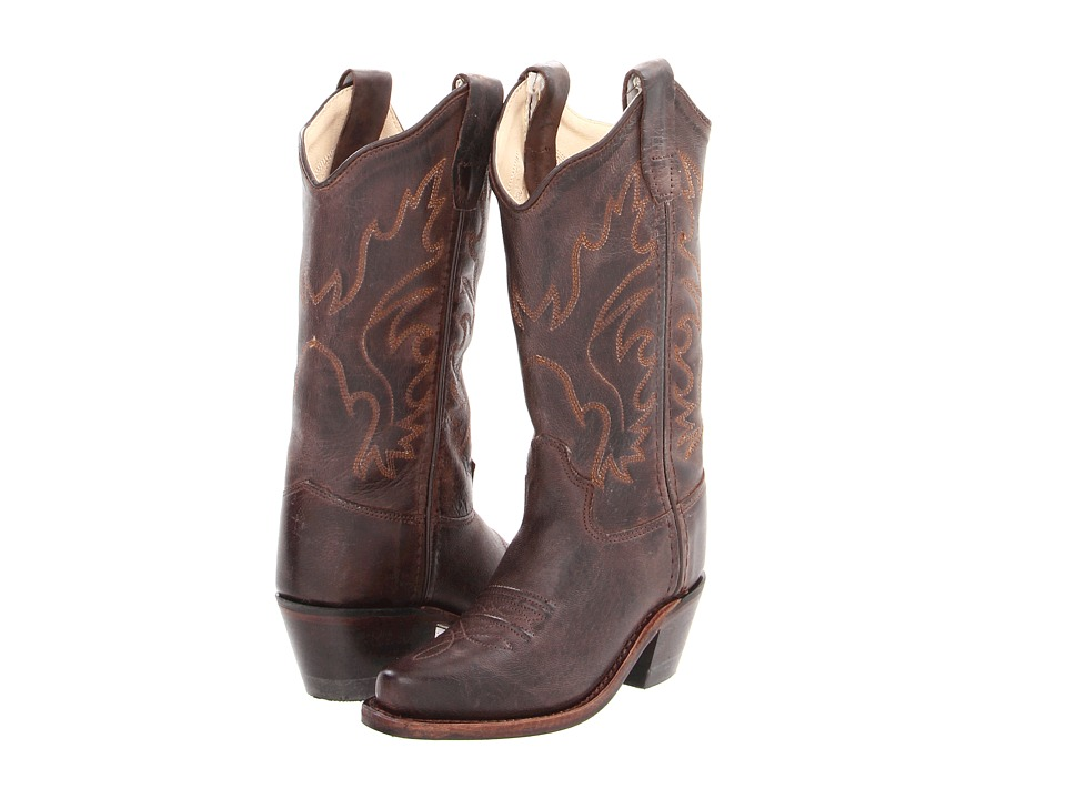 Old West Kids Boots - Western Snip Toe Boot (Toddler/Little Kid) (Brown Canyon) Cowboy Boots