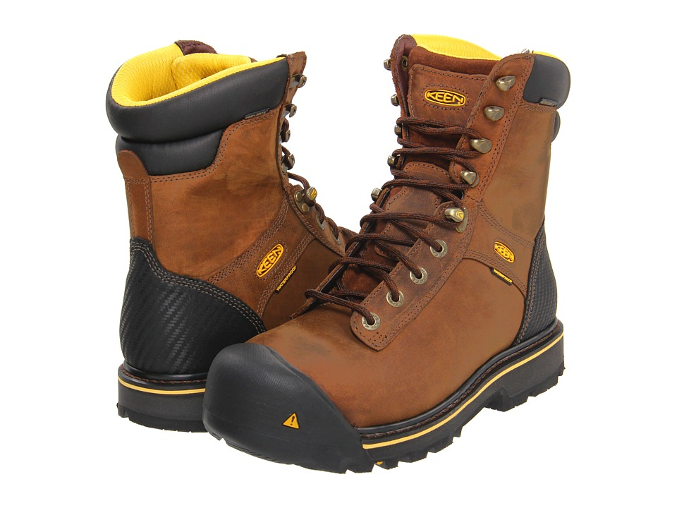 Keen Utility - Wenatchee (Brown) Men's Work Lace-up Boots