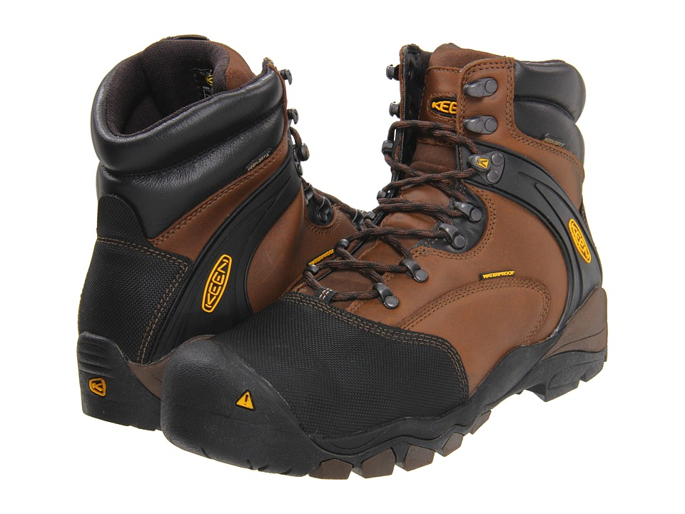 Keen Utility - Louisville 6 Steel Toe (Slate Black) Men's Lace-up Boots