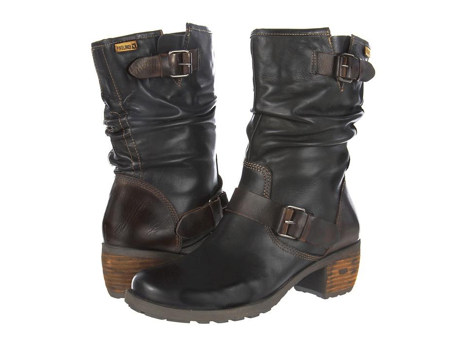 Pikolinos - Le Mans II 838-9233 (Black/Olmo/Castor) Women's Zip Boots