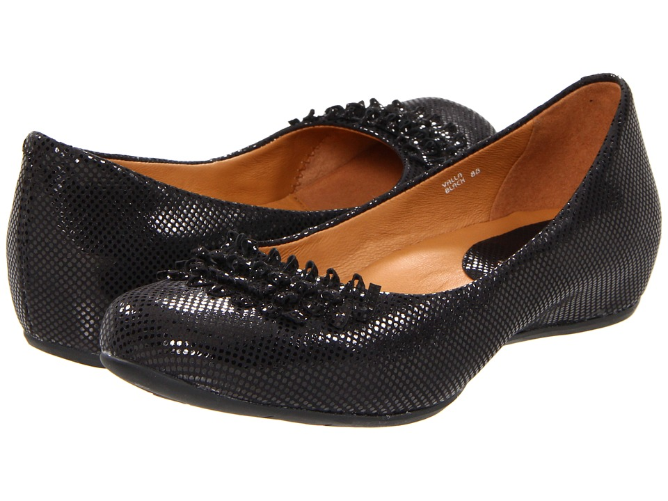 Earthies - Valla (Black) Women's Slip-on Dress Shoes