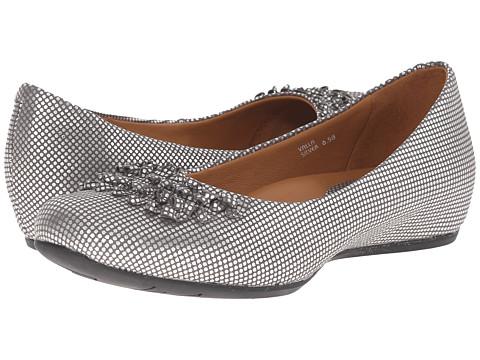 Earthies - Valla (Silver) Women's Slip-on Dress Shoes