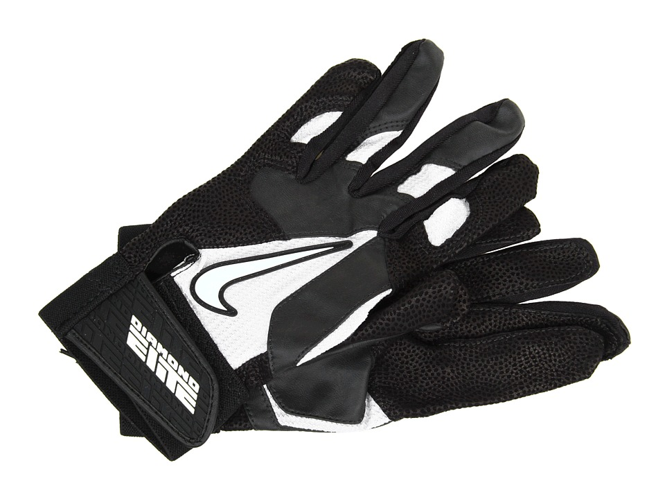 Nike - Diamond Elite Pro II Adult (Black/Black/Black/White) Athletic Sports Equipment