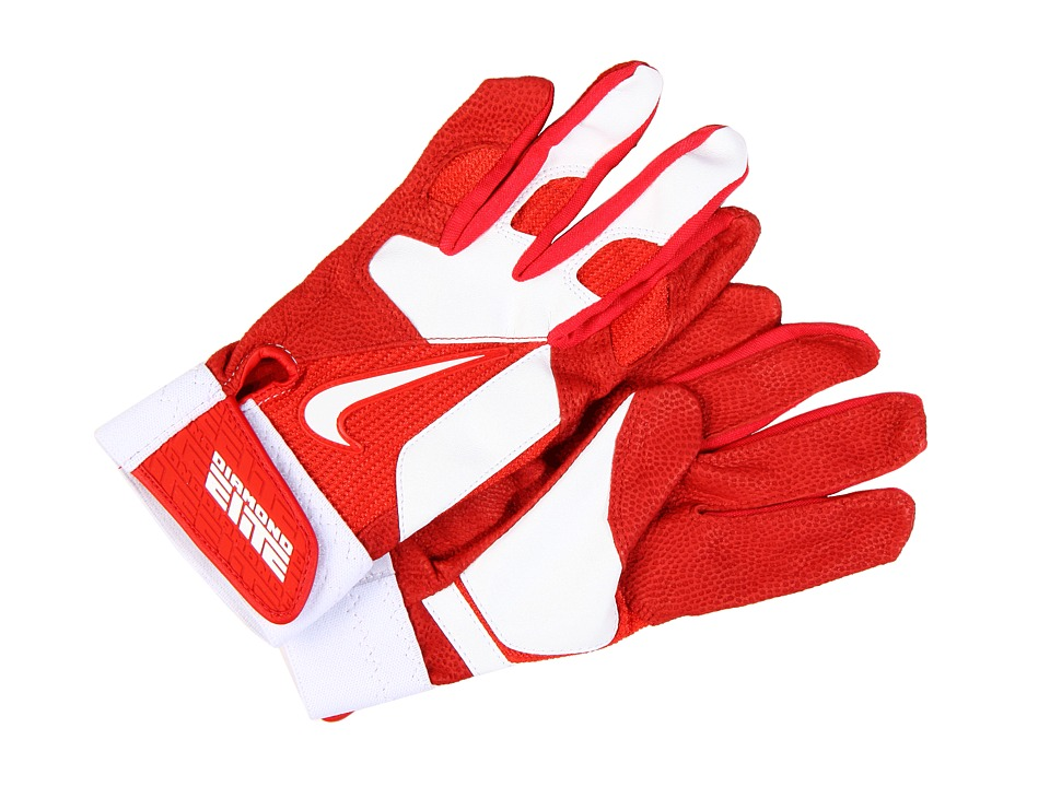 Nike - Diamond Elite Pro II Adult (University Red/White/University Red/White) Athletic Sports Equipment