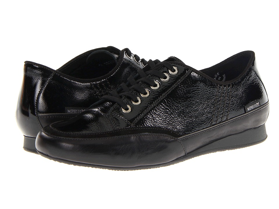 Mephisto - Brenia (Black/Crinkle Patent/Coccinelle/Suede/Grey Perl Calfskin) Women's Lace up casual Shoes