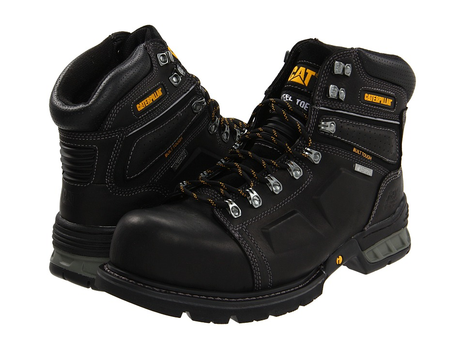 Caterpillar - Endure Waterproof Steel Toe (Black) Men's Work Boots