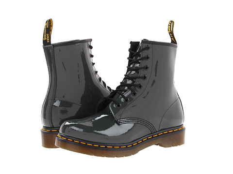 Dr. Martens - 1460 W (Grey Patent Lamper) Women's Lace-up Boots