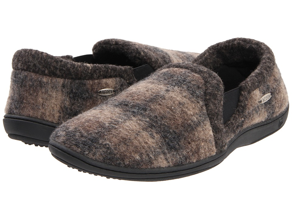 Acorn - Davin Gore Moc (Driftwood Plaid) Men's Slippers